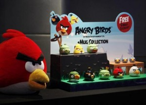 Angry Birds products are displayed during a news conference in .... <br><br><br><a href=